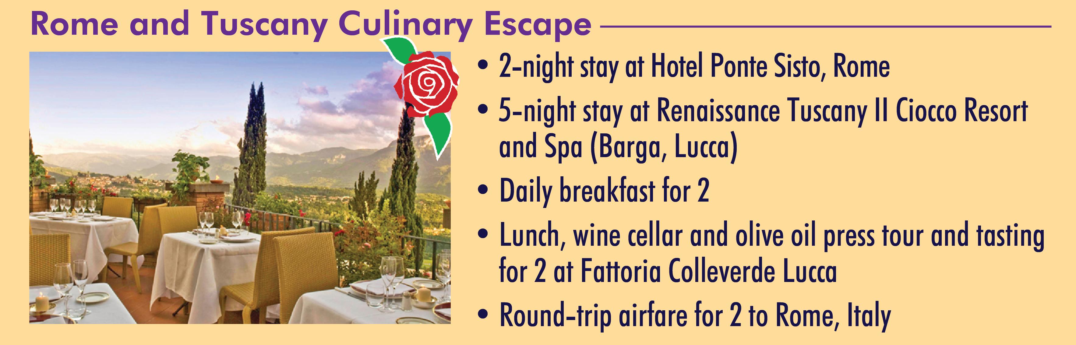 Rome and Tuscany Culinary Escape